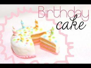 Tuto Fimo Gâteau d'anniversaire