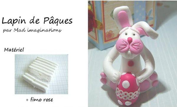 Tuto Fimo : Grand lapin de Pâques