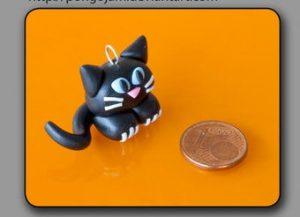 Tuto Fimo : Petit chat noir