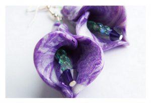 Tuto Fimo Fleur marbrée