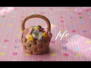 Tuto Fimo : Panier de fleurs