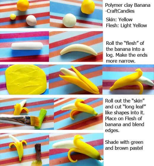 Comment faire une banane en fimo