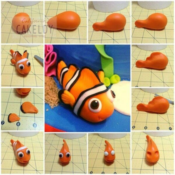 Tuto Fimo Personnage Nemo de Disney