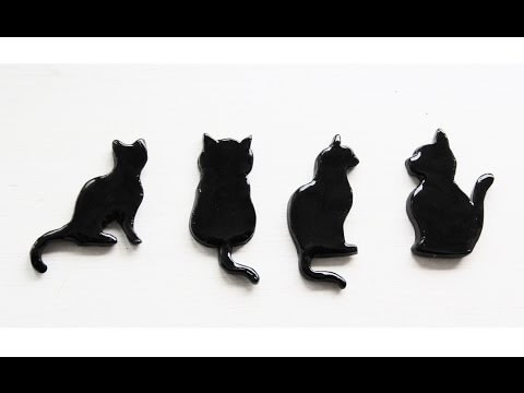 Tuto Fimo : Magnets Chat noir