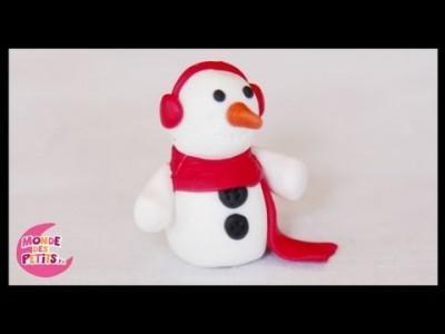 tuto-fimo bonhomme de neige de noel