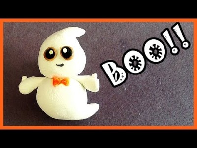 Tuto fimo - Halloween petit fantome