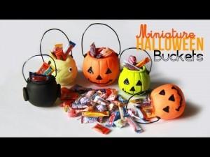 Tuto Fimo Halloween - panier de bonbons