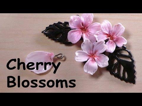 comment faire une fleur de cerisier en fimo tuto. Black Bedroom Furniture Sets. Home Design Ideas