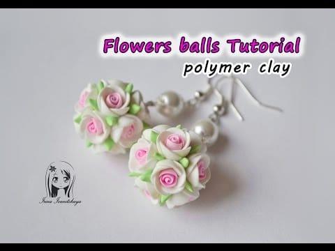comment faire des boucles d'oreille ronde de fleurs en fimo - tuto
