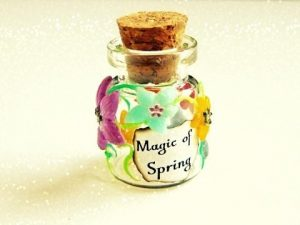 Tuto-Fimo : Bouteille Magie du printemps