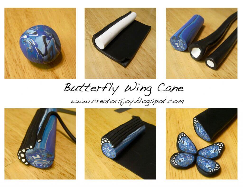 Tuto Fimo Cane Papillon Bleu