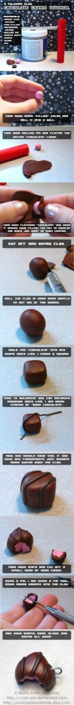 Tuto Fimo : Chocolat fourré