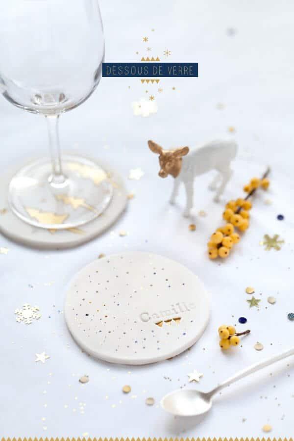 Tuto Fimo : Dessous de verre de Noël