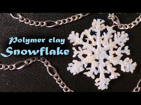 Tuto Fimo : Flocon de neige