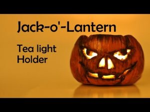 Tuto Fimo Halloween : Photophore Jack o lantern