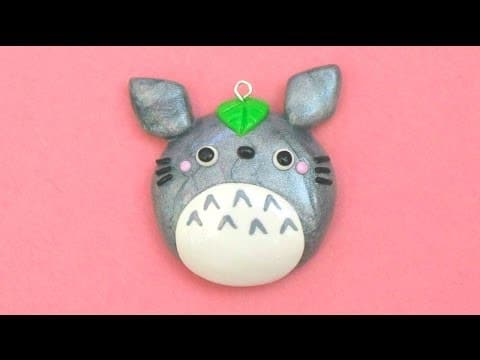 comment cr er un miroir de poche totoro en fimo tuto. Black Bedroom Furniture Sets. Home Design Ideas