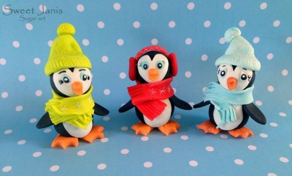 Tuto Fimo : Pingouin au bonnet