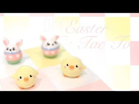 Tuto Fimo : Jeu du morpion de Pâques