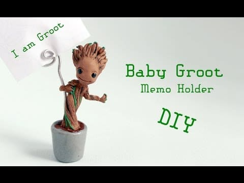 Tuto Fimo : Bébé Groot en porte-photo
