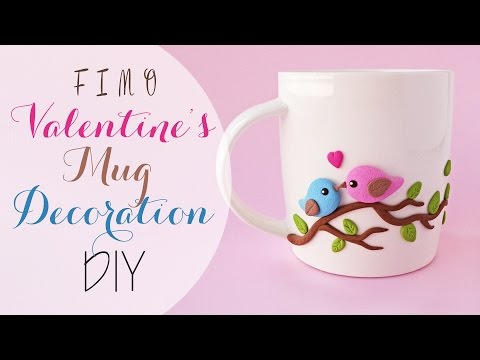 Idée cadeau n°1 : Mug décoré avec des oiseaux