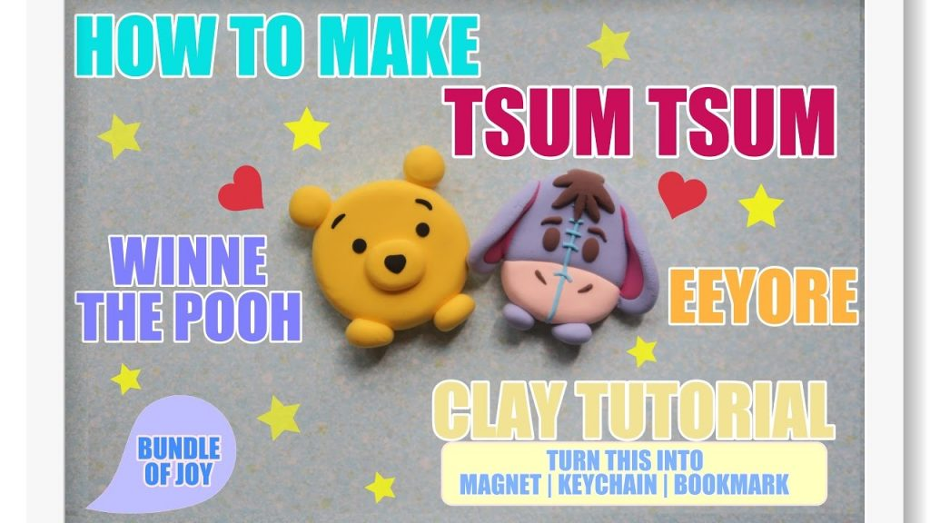 Comment faire des magnets Winnie L'Ourson Tsum Tsum ?
